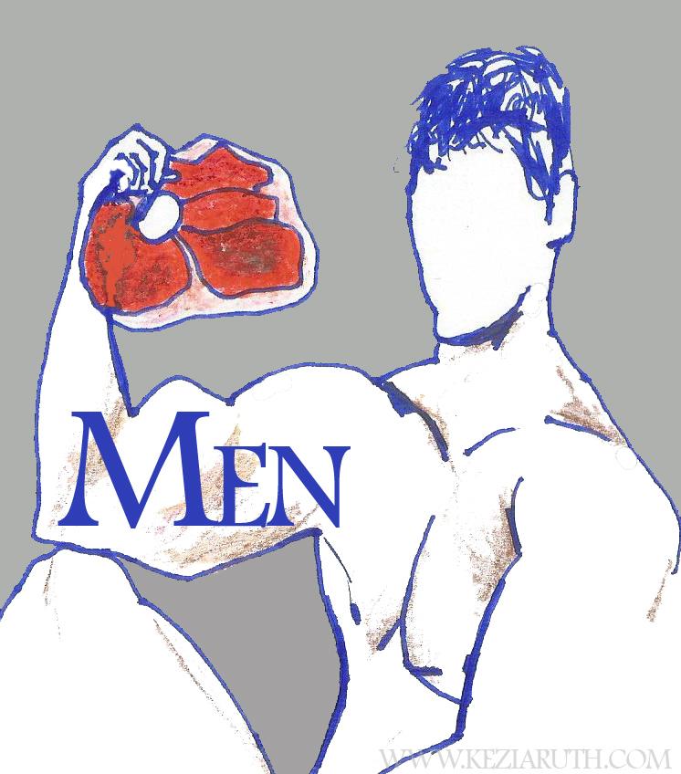 muscle man illustration WEB
