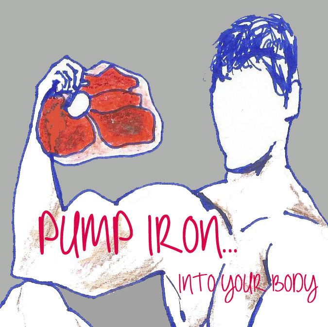 muscle iron illustration