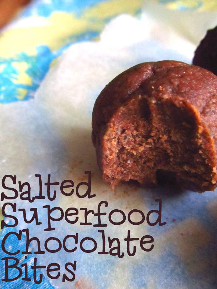 salted chocolate bites
