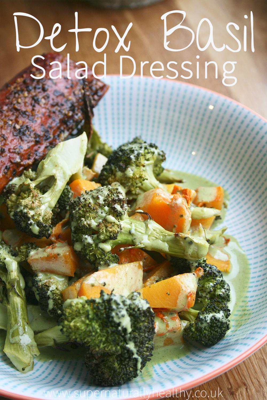 Detox Basil Salad Dressing. Paleo, Gluten Free, Dairy Free, Sugar Free.